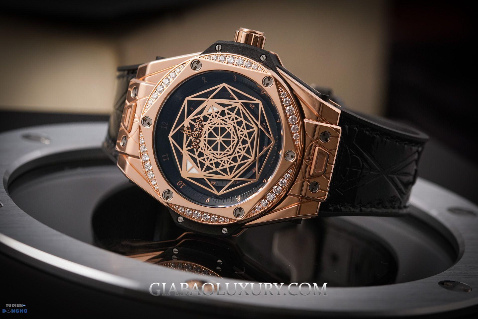 Hublot Big Bang Sang Bleu King Gold Diamonds 39mm
