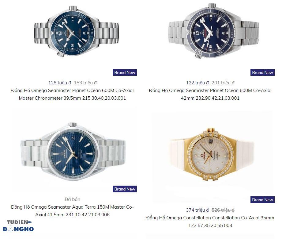 Giá bán 1 số mẫu Đồng hồ Omega Speedmaster