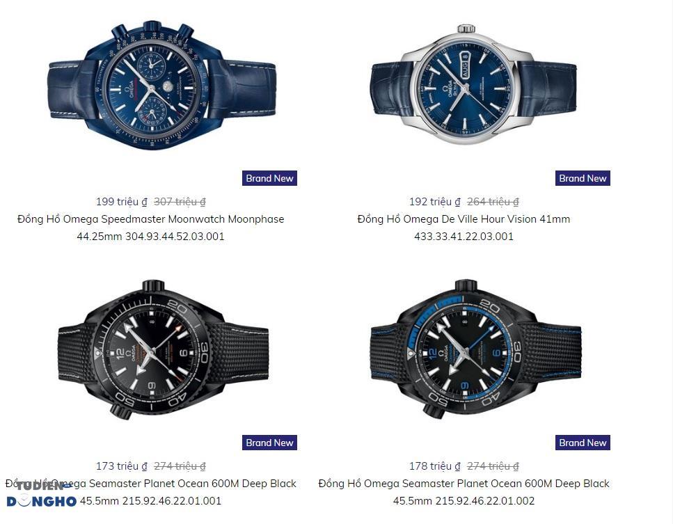 Bảng giá bán tham khảo đồng hồ Omega