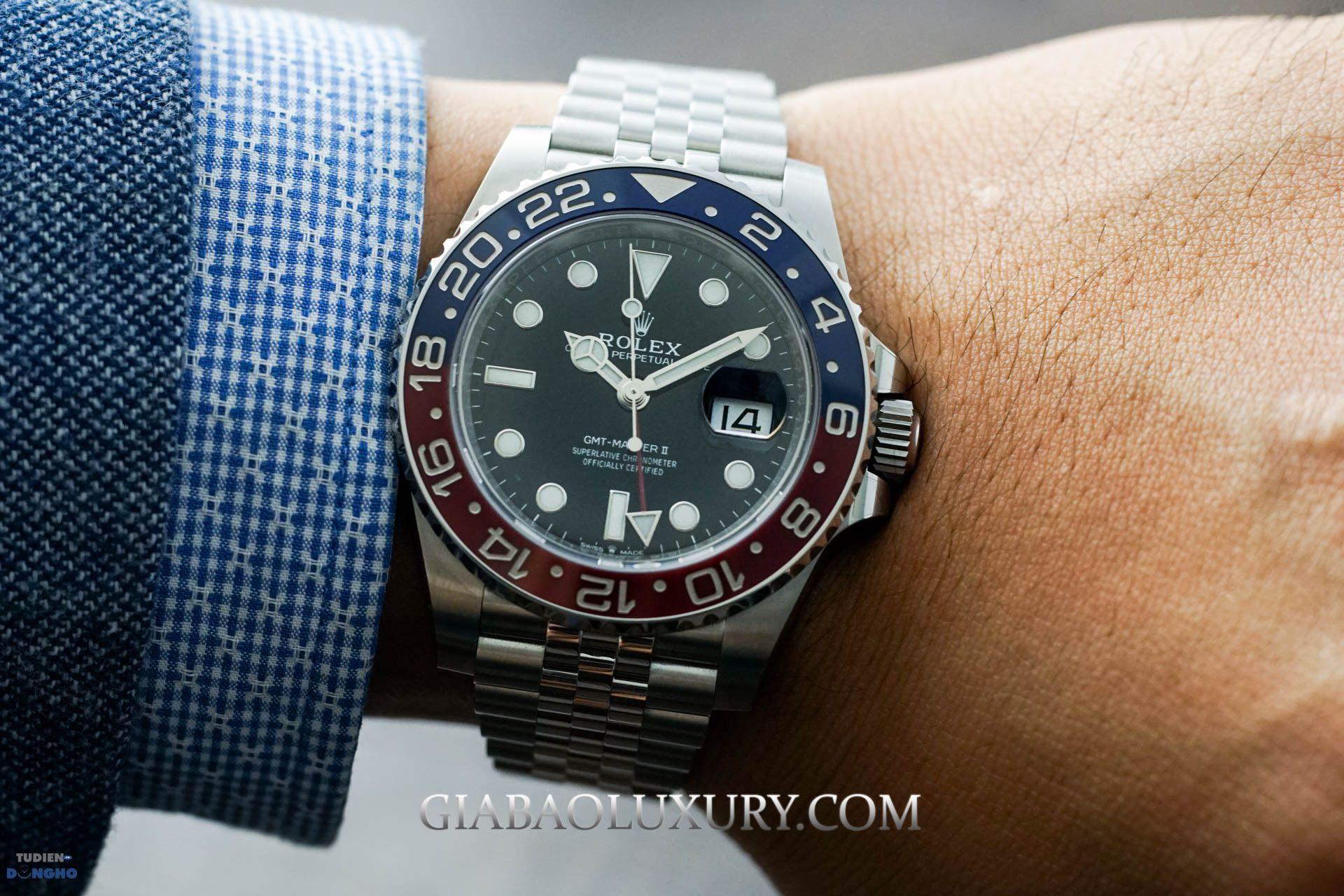 Đồng hồ Rolex GMT Master II Pepsi dây Jubilee